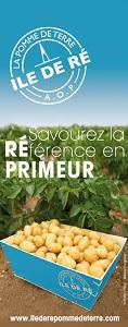 Affiche de promotion de la pomme de terre de l'ile de Ré