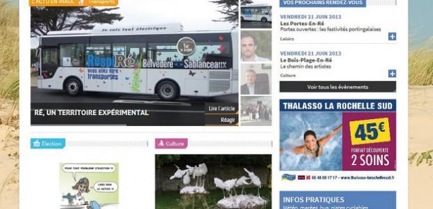 Capture d'écran du site web realahune.fr