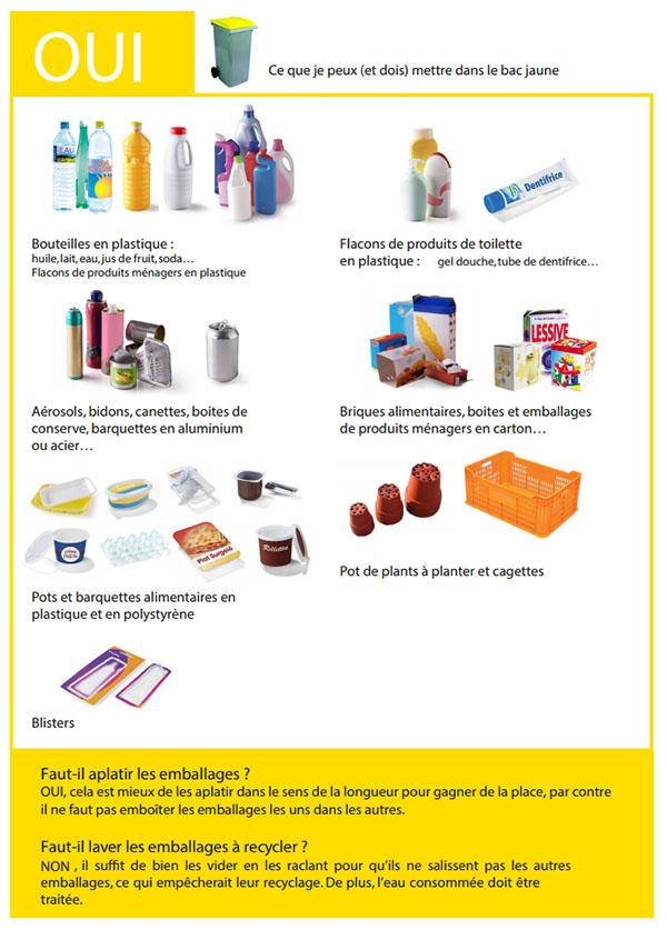 Nouvelles consignes de tri sélectif 2015 des déchets sur l'île de Ré : ce que je dois mettre dans le bac jaune