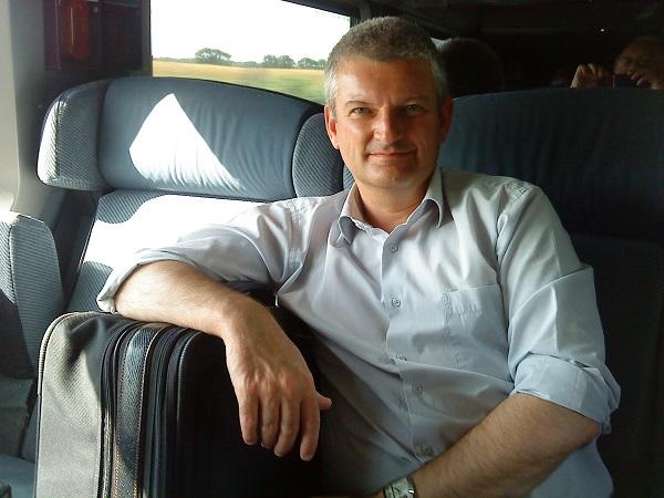 Olivier Falorin dans le TGV