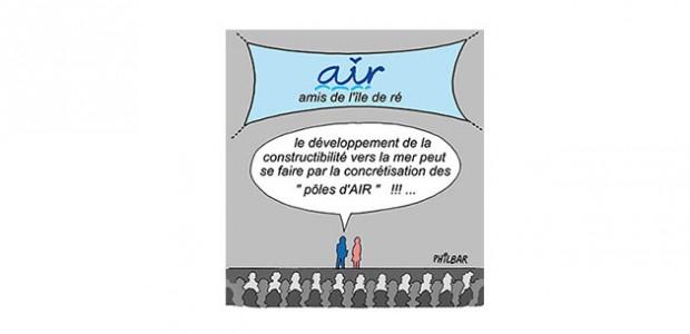 Amis de l'île de Ré : Le développement de constructibilité vers la mer peut se faire par des pôles d'AIR (humour)