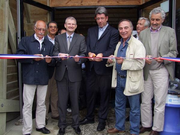 Inauguration de la maison du fier, réserve de lilleau des niges