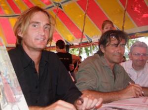 Marc Veber et Jacques D. Portes au festival Bulles de Ré