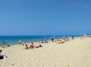 Plage sur l'île de Ré. Bonne qualité d'eaux de baignade.