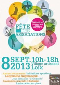 Affiche fête des associations 2013