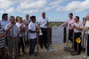 Les Maires et élus au pied de la digue Goisil, luttent pour une évolution sur le dossier PPRL