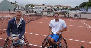 Joachim Gérard et Nicolas Pfeifer, joueurs de tennis handisport
