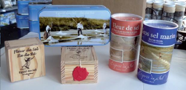Esprit du sel et ses boîtes de sel de l'île de Ré