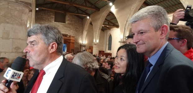 Jean-François Fountaine, nouveau maire de La Rochelle et Olivier Falorni