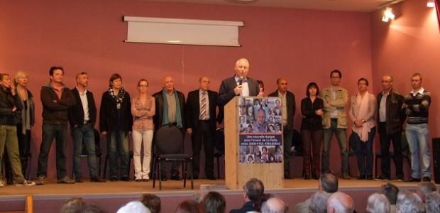 Réuion publique de JP Héraudeau
