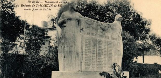 exposition : monumants aux morts de l'pile de Ré (centenaire de la grande guerre)