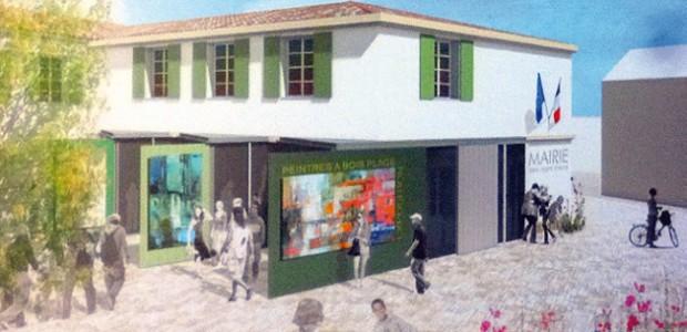Projet de réaménagement de la place de la Liberté au Bois-Plage en Ré et construction de logements