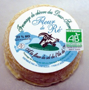 Fromage de chèvre Fleur de Ré par La case Bleue