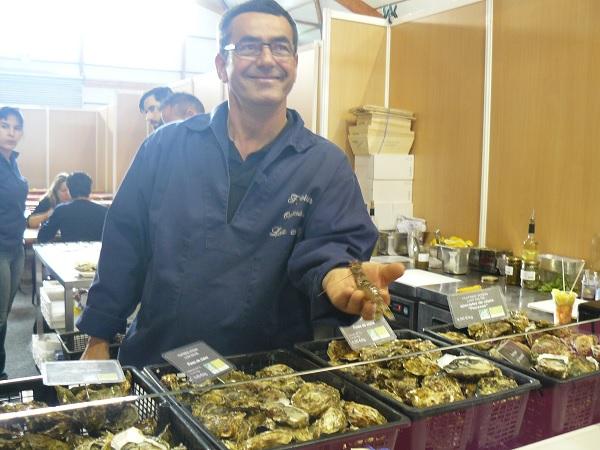 Huîtres de l'île de Ré au salon de la gastronomie de La Rochelle