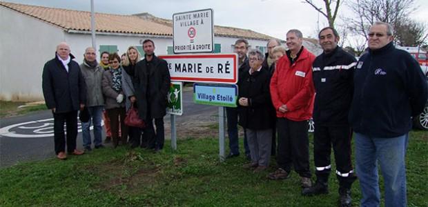 Sainte-Marie-de-Ré. limitation de la vitesse de circulation à 30 km/h