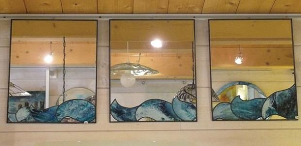 Artisanat d'art (île de Ré) : miroirs décotrés en verre de Maryvonne Brulon,