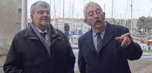 Jean-François Fountaine à gauche et Jean-François Faget à droite., médiateur de la ville de La Rochelle