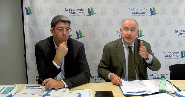 Le Président de la Mission Littoral, Lionel Quillet, et le Président du Conseil Général, Dominique Bussereau, se sont fortement impliqués depuis 5 ans pour la défense des côtes de Charente-Maritime.