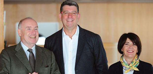 Lionel Quillet et Gisèle Vergon, candidats aux élections sénatoriales pour l'île de Ré, aux côtés de Dominique Bussereau