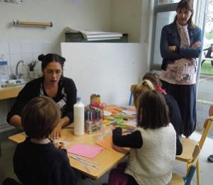 Plusieurs ateliers de loisirs créatifs ont été proposés durant toute la journée aux enfants