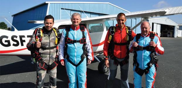 Olivier Falorni parachuté sur l'île de Ré