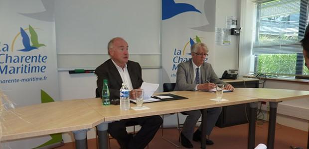 Dominique Bussereau, Président du Conseil départemental et Serge Gapail, Directeur général des services