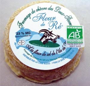 Fleur de Ré, fromage de chèvre à la fleur de sel