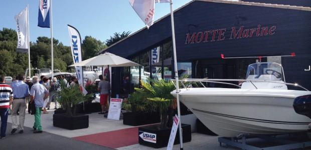 20e anniversaire du concessionnaire de bateaux de plaisance Motte Marine à Rivedoux (île de Ré (Rhéa, jeanneau, Wauquiez)