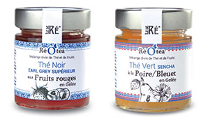 Réotea, thé en gelée, produit local de l'île de Ré par les Confitures du Clocher
