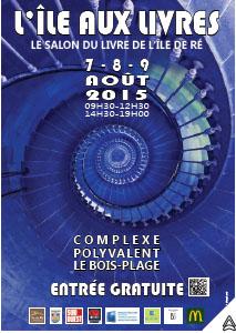 L'affiche du salon du livre de l'île de Ré (7-9 août 2015 au Bois-Plage)
