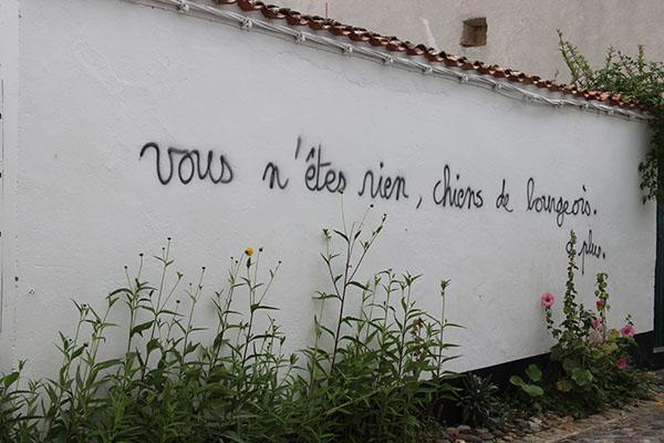 Grafitis politique anti bourgeois