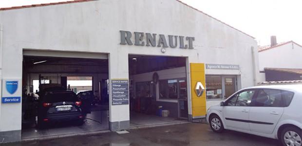 Le garage Neveur d'Ars-en-Ré, agent Renault, également présent au Bois-Plage