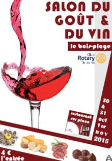 Affiche saol du goût et du vin, gastronomie au Bois-Plage (île de Ré)
