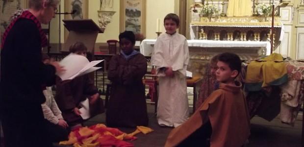 Spectacle François d'Assise le 5 septembre par les enfants du catéchisme de l'île de Ré