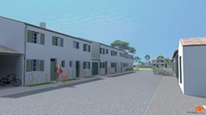 Une vue du programme immobilier au Bois-Plage