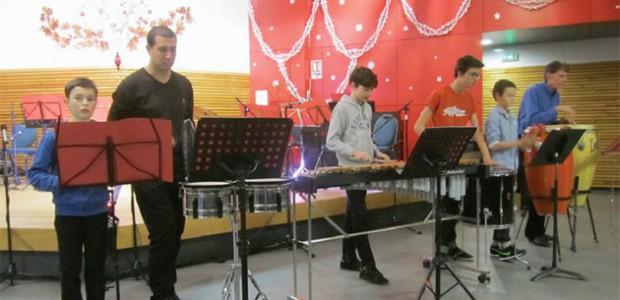 Ecole de musique de l'île de ré au Bois plage : percussionnistes