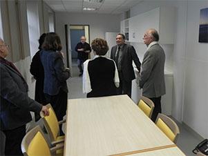 visite des locaux de l'accueil de jour de l'hôpital de St Martin de Ré, qui se consacre notamment à la maladie d'Alzheimer