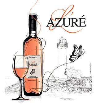 L'Azuré, nouveau vin rosé biologique du terroir de l'île de Ré, un produit de la cave coopérative Uniré