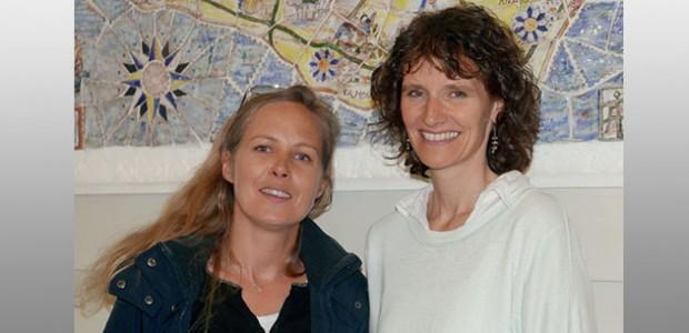 Claire Frézouls, présidente de l'association « Café itinérant des parents » et Florence Pineau, l'intervenante qui a donné la conférence Au coeur des émotions de l'enfants, inspirée par Isabelle Fillozat