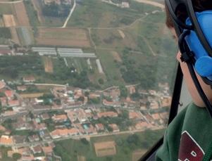 Découverte de l'aviationa vec l'APE Drôles de Maritais : Clément cherche sa maison au dessus de Sainte-Marie