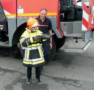 Découverte des sapeurs pompiers avec l'APE de Sainte-Marie Drôles de Maritais