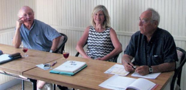 Jean-Pierre Goumard, Annich Goujon et Jean-Pierre Domenjoz lors de l'AG de l'association AMIS (sauvegarde) de St Martin de Ré