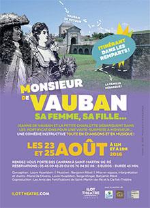 Spectacle théâtre M. de Vauban sa femme, sa fille dans les remparts de Saint-Martin-de-Ré