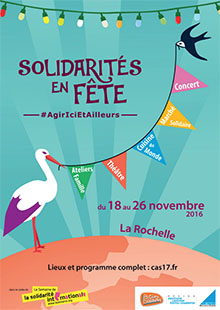 Affiche Solidarités en Fête, évènement 2016 à La Rochelle
