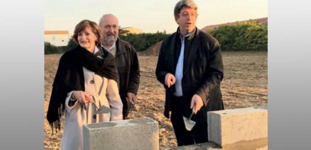 Construction de logements sur l'île de Ré : première pierre du programme de logement social Les Corsaires à St Martin