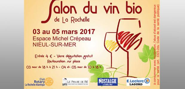 Salon du vin bio du 3 au 5 masr 2017 à Nieul sur Mer près de La Rochelle