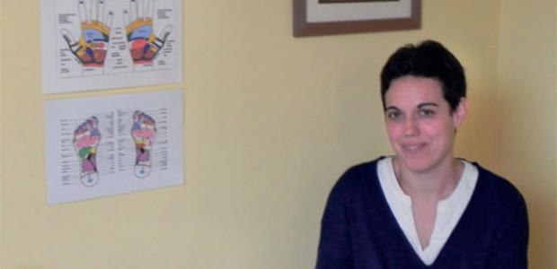 Susana Duarte prtaique le reiku à La Couarde (île de Ré) avec l'association Zafa +