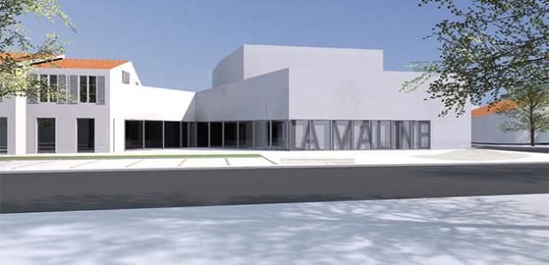 Une perspective de la façade Nord de La Maline après les travaux (La Couarde, île de Ré)
