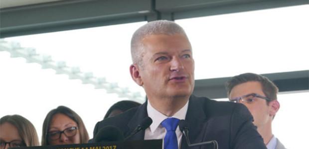 Olivier Falorni, candidat aux élections législatives de juin 2017 sur La Rochelle île de ré
