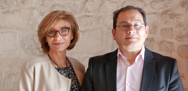 Bruno Léal, candidat Les Républicains aux législatives 2017 à La Rochelle, île de Ré, avec Fabienne Michel